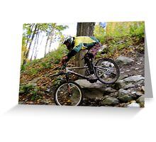 Men's Downhill Race at Sugarbush Greeting Card