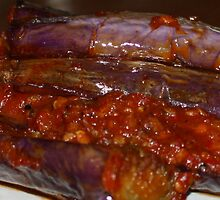 Eggplants in Spicy Sauce by nadeedja