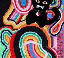 Lost Cat in Abstract by Ilze Coombe