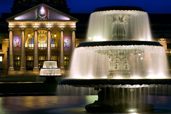 fountains at the kurhaus wiesbaden germany by yen baet redbubble. Black Bedroom Furniture Sets. Home Design Ideas