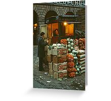 """Time for a Chat"", Covent Garden Market, London, 1973. Greeting Card"