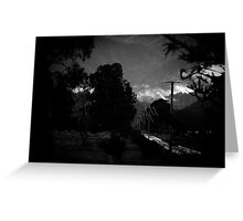 mountains after rain. Greeting Card