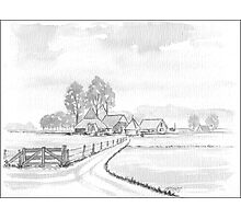 DUTCH LANDSCAPE - WASHED PEN DRAWING Photographic Print