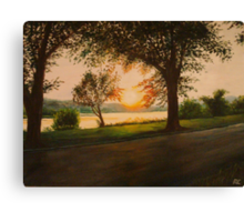 The End of the Day on Riverside Canvas Print