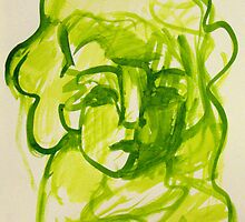 Woman Lit in Lime by Maya Hiort Petersen
