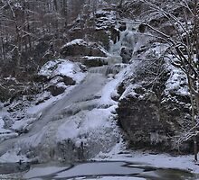 Dingmans Falls Winterscape by Stephen Vecchiotti