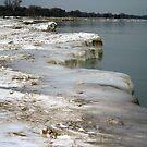 Lake Michigan's Frozen Shoreline by kkphoto1