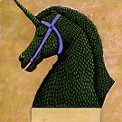 Topiary Horse with Horn by Donnahuntriss