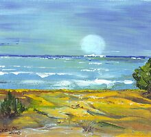 Moonlit Beach - To be an Artist (You are worth the time...) by Maree  Clarkson