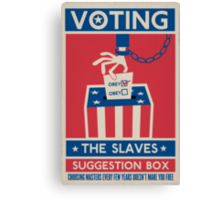 Voting Canvas Print