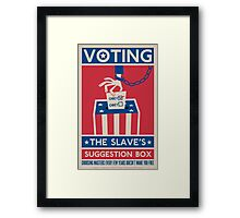 Voting Framed Print