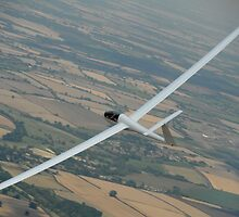 Glider soaring cross country. by sandyprints