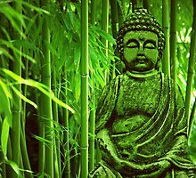 Bamboo with Buddha by Gabi Siebenhühner