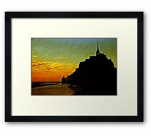 Mont Saint Michel, France (The Marvel) at Sunset Framed Print