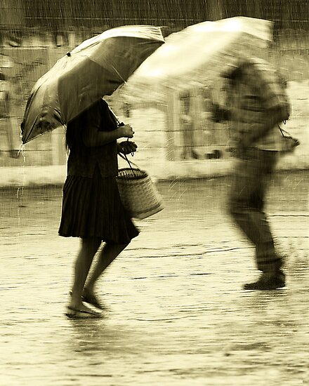 Dancing on the Rain - Jocotenango town by Miguel Avila
