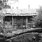 Cottage Shed BW- Invermay, Tasmania by RainbowWomanTas