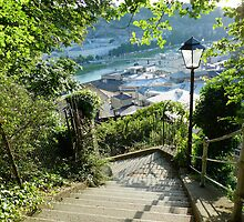 Steps above Salzburg town by magicaltrails