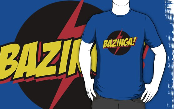 bazinga - big bang theory by personalized