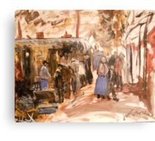 Old Market in Bordeaux 1888 Metal Print