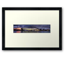 Morning Arrival - Sydney Harbour, Sydney Australia (35 Exposure HDR Pano) - The HDR Experience Framed Print