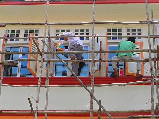 Singapore - Bamboo scaffold by Maureen Keogh