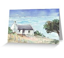 A dream cottage by the sea Greeting Card