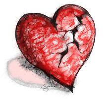 Broken Heart Scribbler Original by Sybille Sterk