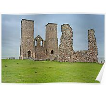 Ruins of Reculver Church, Herne Bay, Kent, UK. Poster