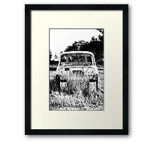 The desolated car  Framed Print