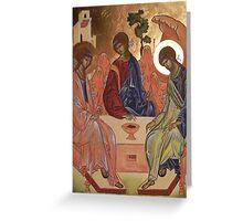 Icona della trinità Greeting Card
