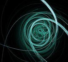 Blue Swirls by Chris Barber