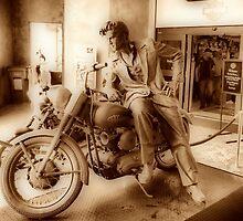 Elvis On A Harley  by SgtSciFI