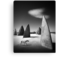 Of canines and monoliths Canvas Print