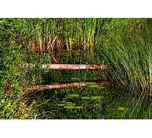 Reflections on the Fen (HDR) Photographic Print