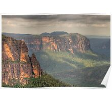 Leap of Faith - Govetts Leap, Blue Mountains, Sydney Australia - The HDR Experience Poster