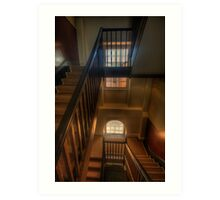 Upstairs Downstairs - Hyde Park Barracks -The HDR Experience Art Print