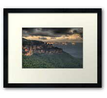 Icons - Jamison Valley, Katoomba Blue Mountains World Heritage Area - The HDR Experience Framed Print
