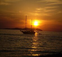 Ibiza Sunset by Gerry  Temple