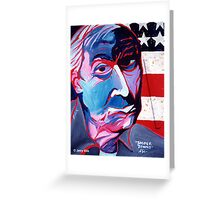 'Portrait of Jasper Johns' Greeting Card