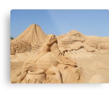 Sand Sculpture Metal Print