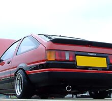 Toyota AE86 Red from behind by cmercer