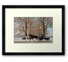 Horse and Buggy on a Wintery Morning Framed Print
