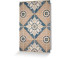 Traditional Portuguese ceramic tiles Greeting Card