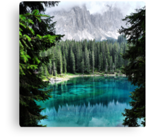 Dolomites Lake reflections Canvas Print