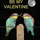 Bee Eaters Be My Valentine by Eric Kempson