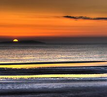 Sunset over Mellon Udrigle, Gruinard Bay by Christopher Cullen