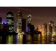 Brisbane City at Night Photographic Print