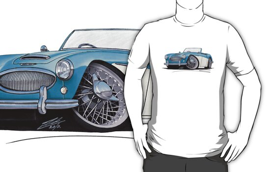 Austin-Healey 3000 Blue/White by Richard Yeomans