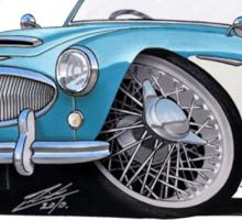 Austin-Healey 3000 Blue/White Sticker