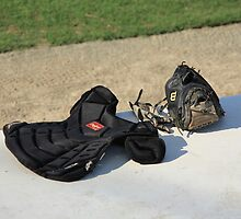 Baseball Glove and Chest Protector by Frank Romeo